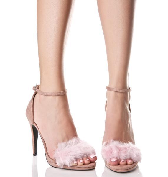 Glamorous Love Fever Fluffy Heels