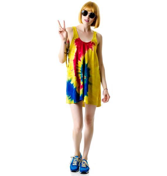 Rebel Yell Tie Dye Slit Dress