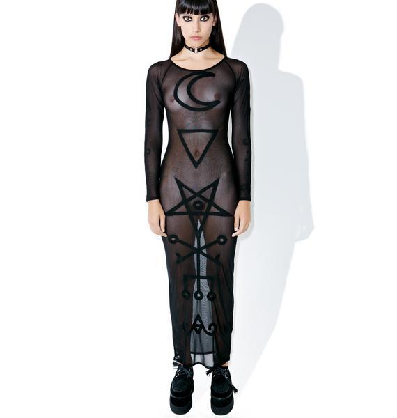 Killstar Lilith Mesh Maxi Dress
