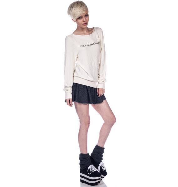 Wildfox Couture My Favorite Sweater Baggy Beach Jumper