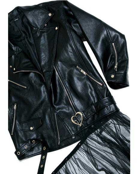 Tulle Moto Jacket