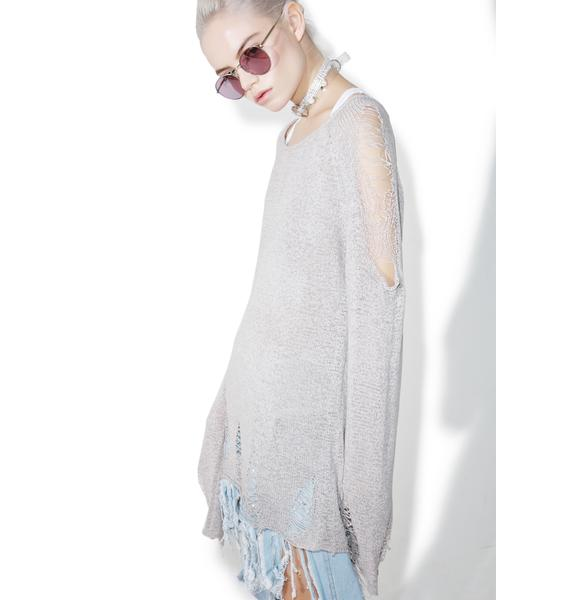 Glamorous Day By Day Distressed Sweater