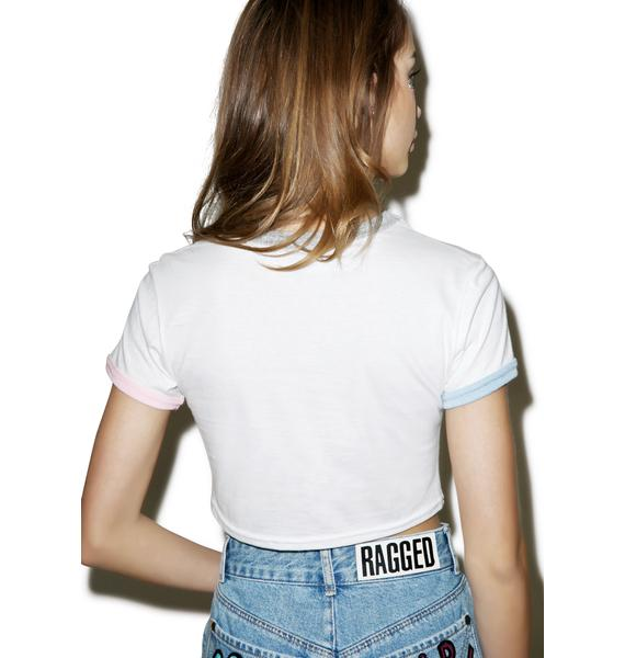 The Ragged Priest Goodie Crop Ringer Tee