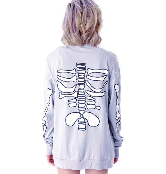 High Heels Suicide Skeleton Cardigan