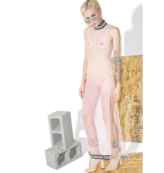 Shade London Polo Fishnet Slit Dress