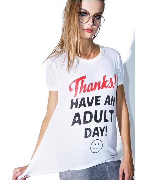 Adult Day Vintage Ringer Tee