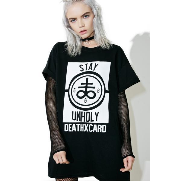 DeathxCard Apparel  Stay Unholy Tee