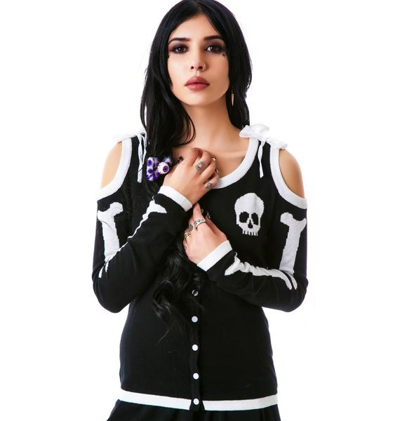 Too Fast Bone Heart Annabel Cardigan