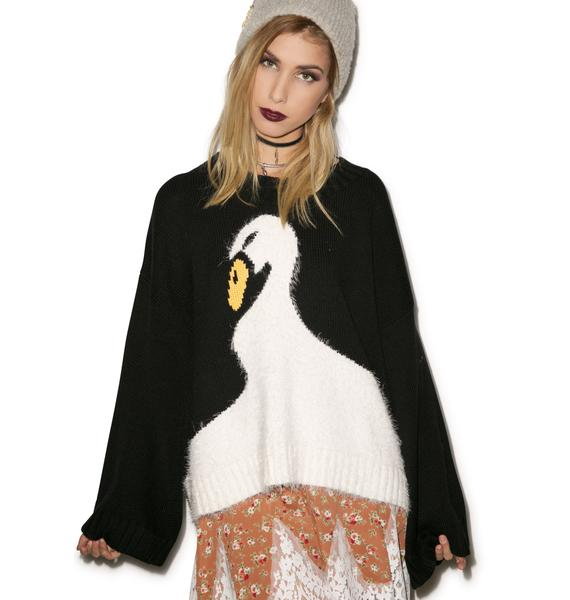 Wildfox Couture Swan Dive Chunky Oversized Sweater