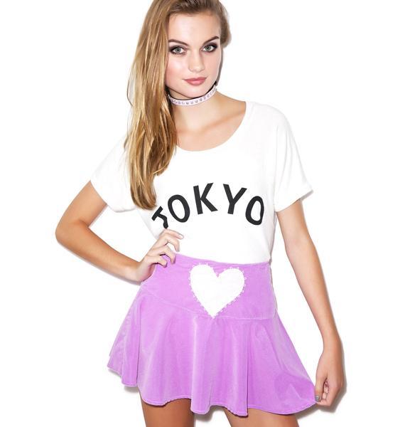 Velvet Sweet Heart Flip Skirt