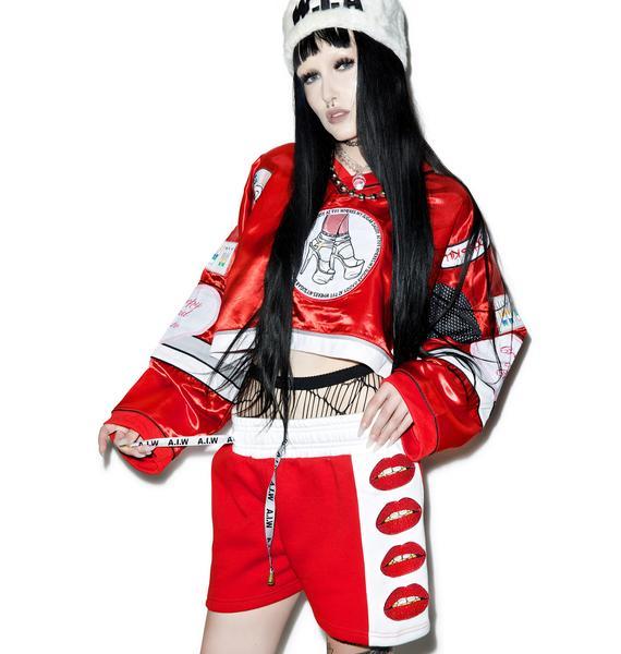 W.I.A X Dolls Kill Lips Shorts
