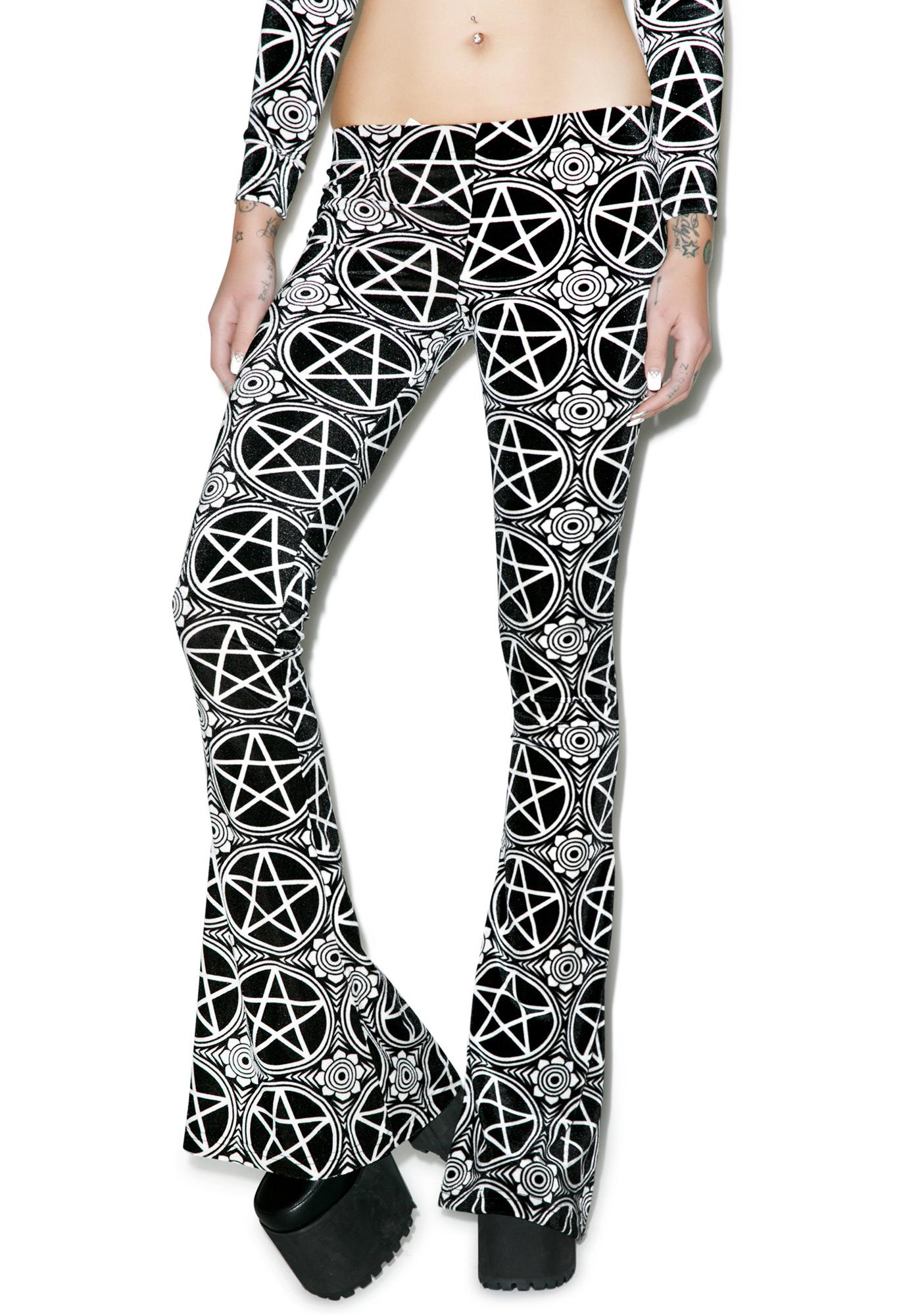 Killstar Pentagram Bell Bottoms