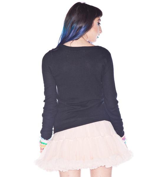 Tokidoki Plaid Sandy Long Sleeve Sweater