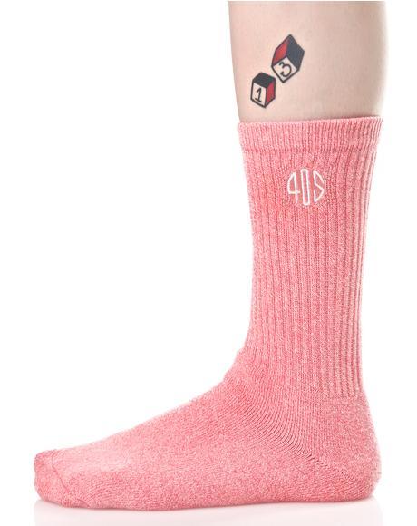 40s Speckle Crew Socks