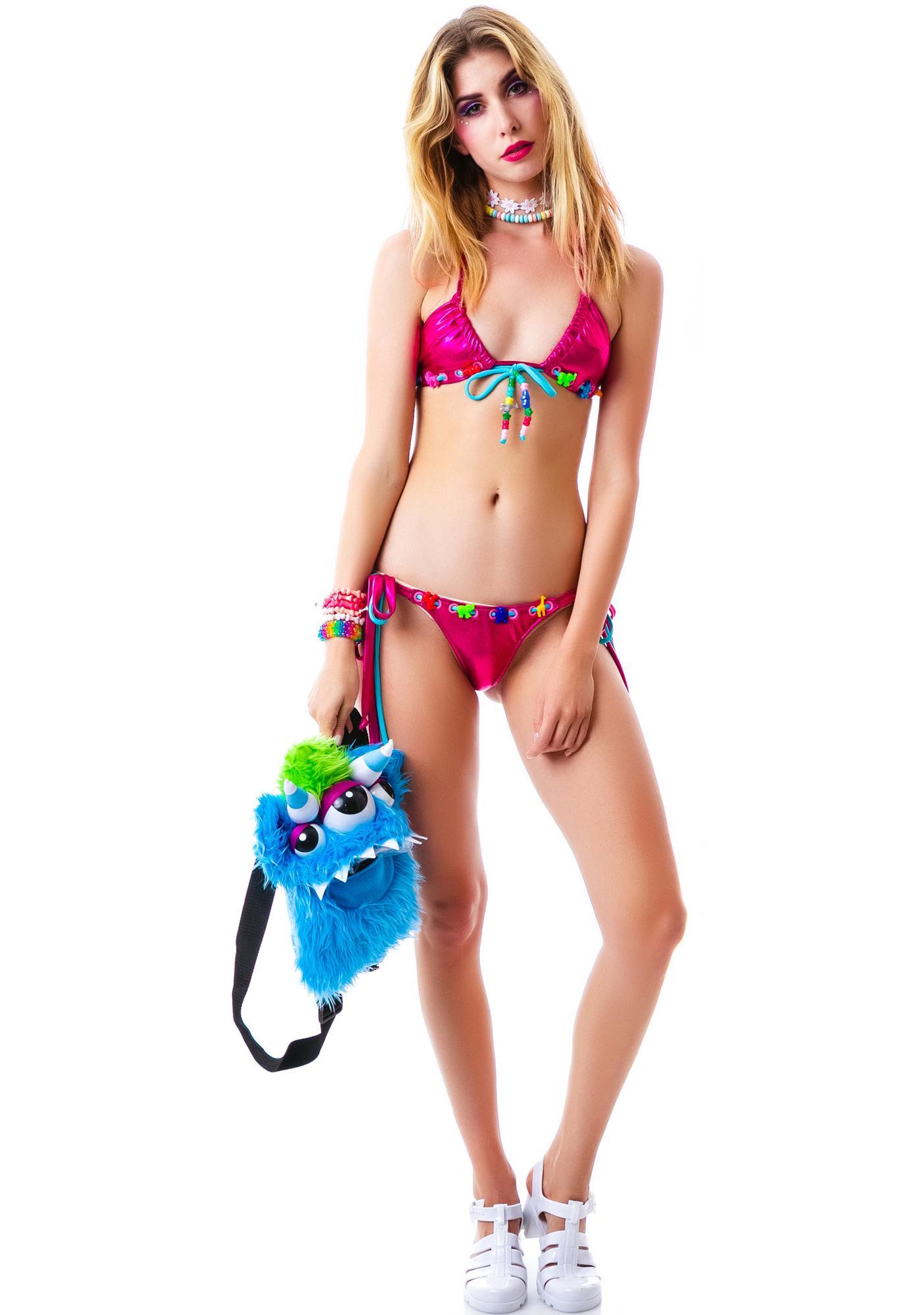 J Valentine Sea Hearts Tie Bikini