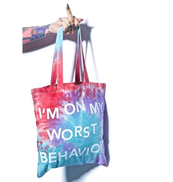 Jac Vanek Worst Behavior Tote Bag