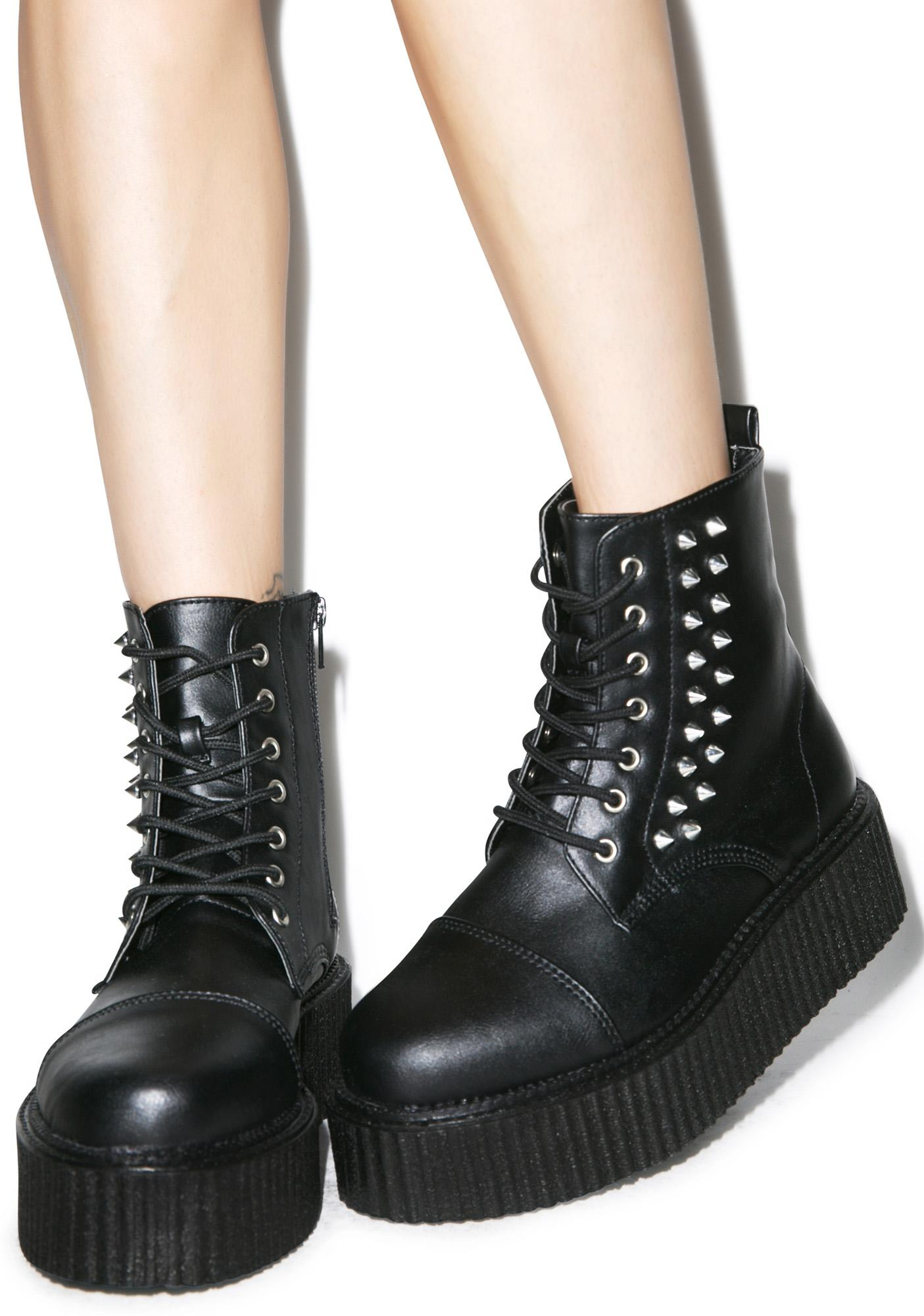 demonia studded creeper boots dolls kill