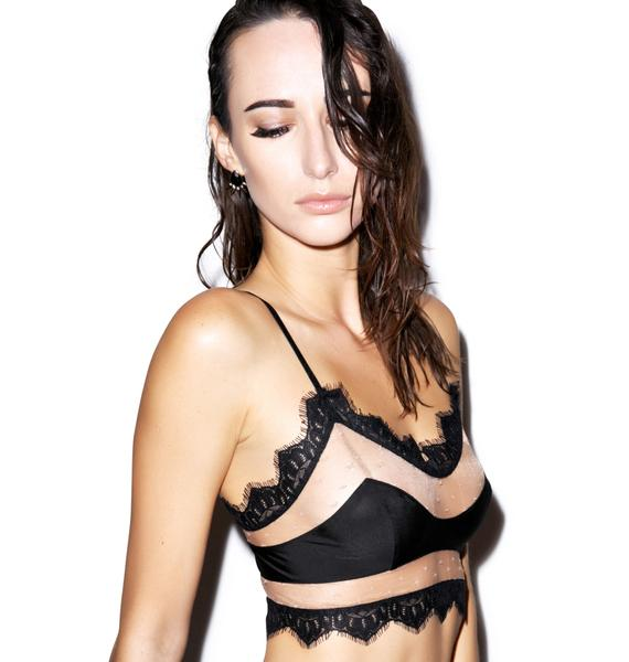 For Love & Lemons Sex Kitten Cut Out Bralette