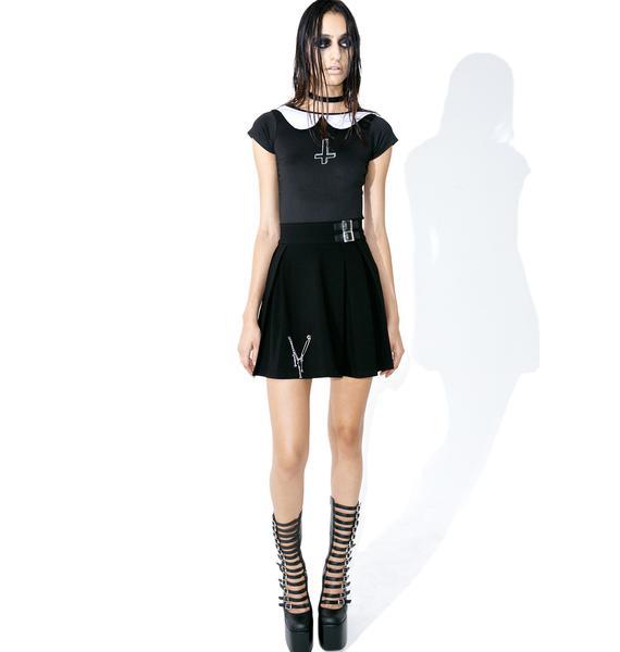 Disturbia X Dolls Kill Wednesday Bodysuit