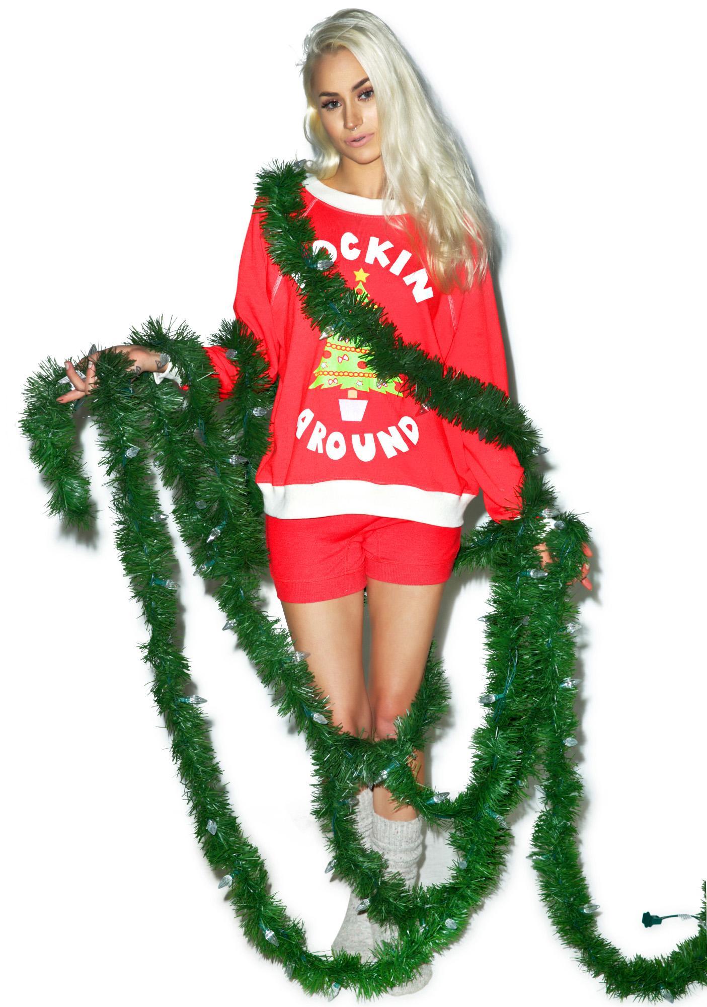 Wildfox Couture Rockin' Around Kim's Sweater