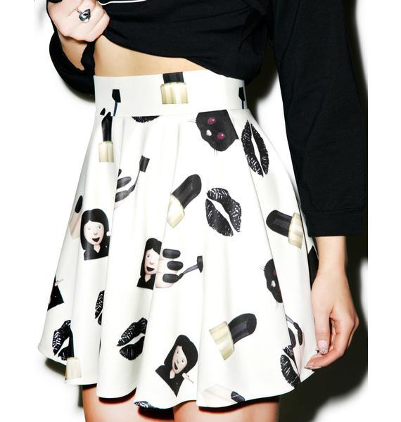 O Mighty Badass Bish Skater Skirt