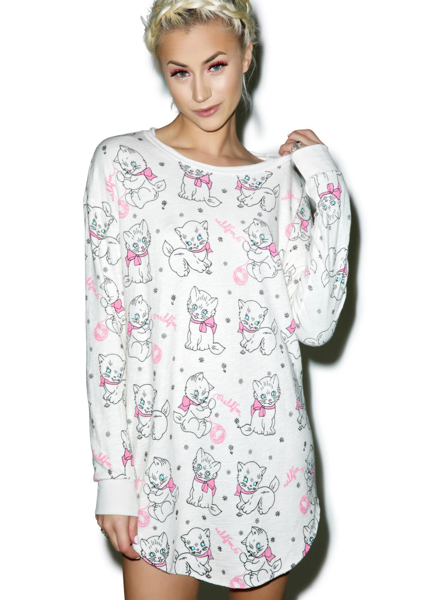 Wildfox Couture Knitting Kitties Tuscany Tunic