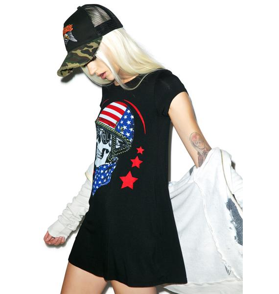 Lauren Moshi Lana Skull Helmet T-shirt Dress