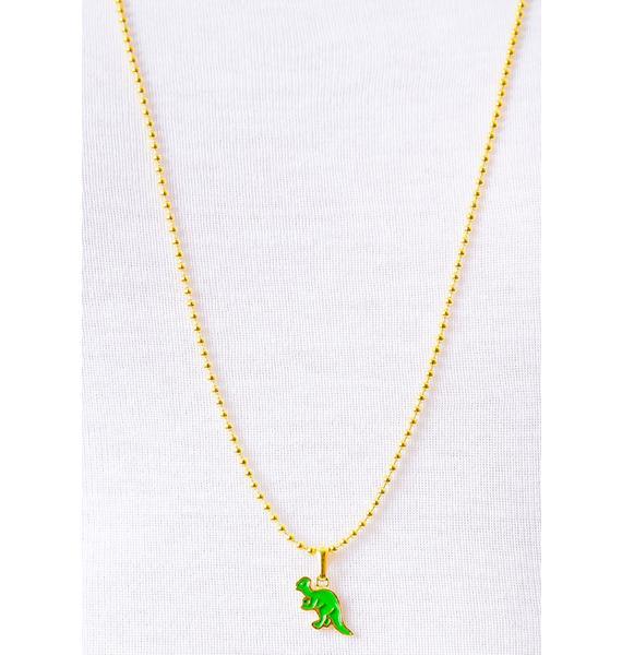 Joyrich x Giza Dinosaur Pachycephalosaur Micro Ball Chain Necklace
