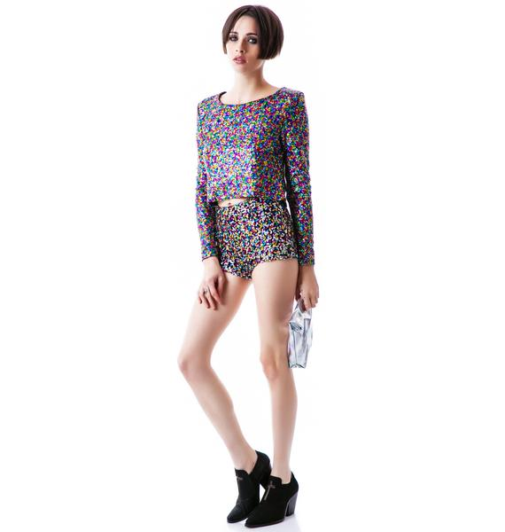 Mink Pink Glamour Glitter Top