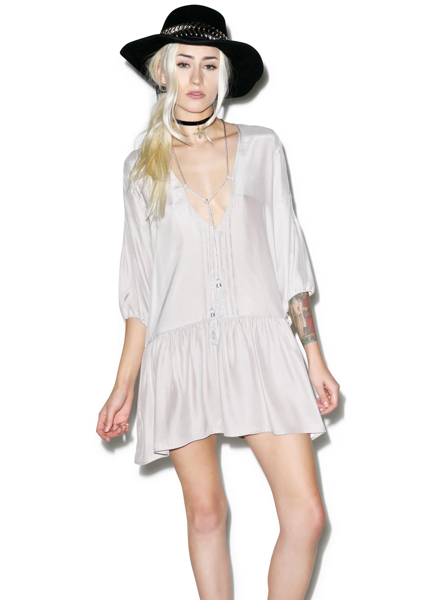 For Love & Lemons Monterey Sand Mini Dress