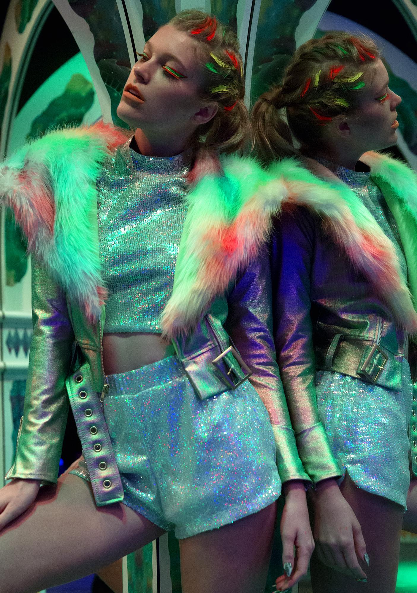 Jaded London Sequin Shorts