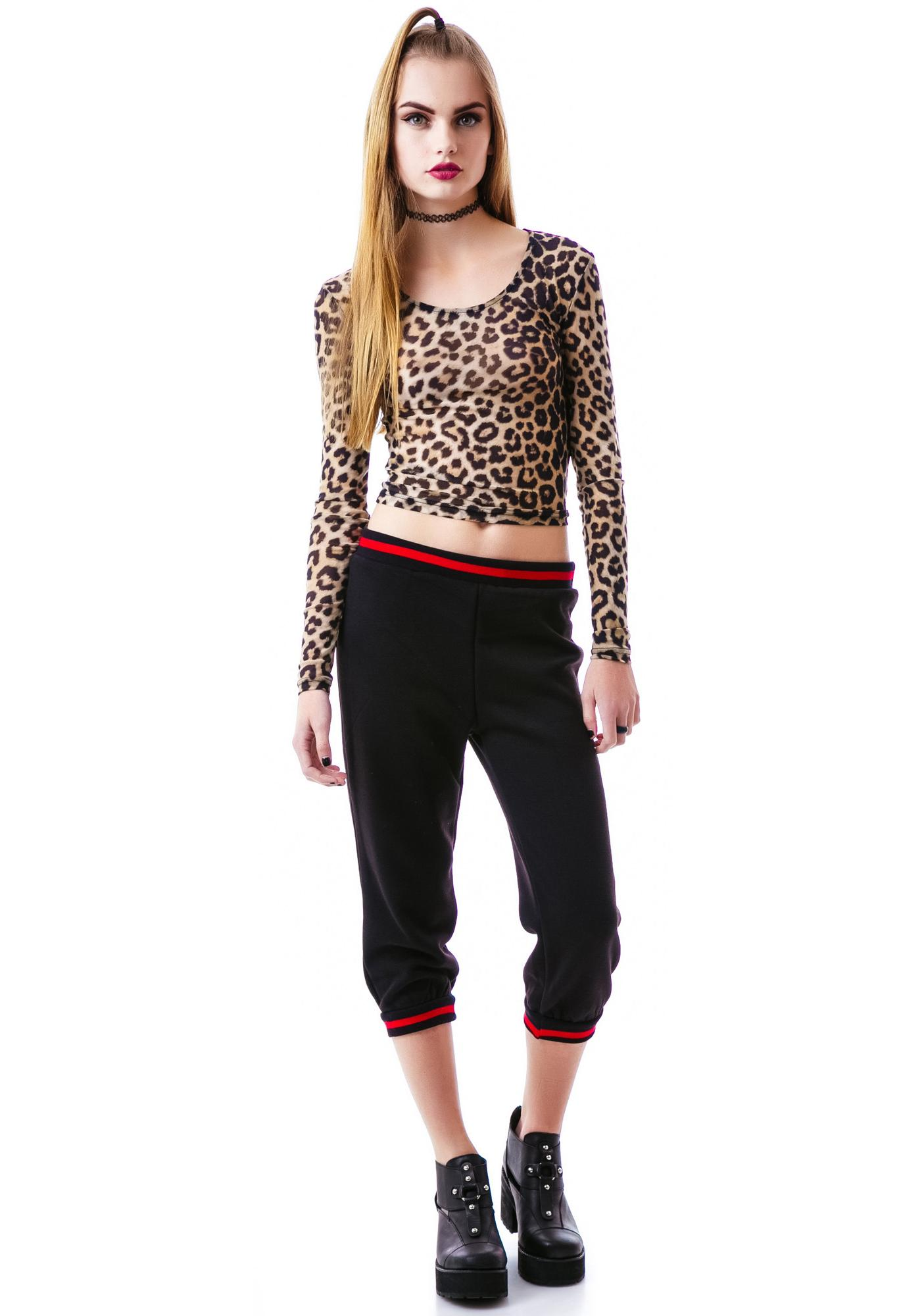 Evil Twin Wild Beast Long Sleeve Crop Top