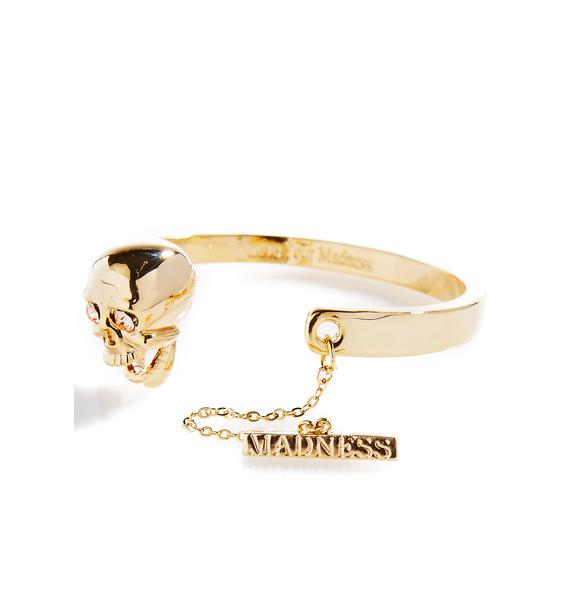 Love And Madness Skull Bracelet