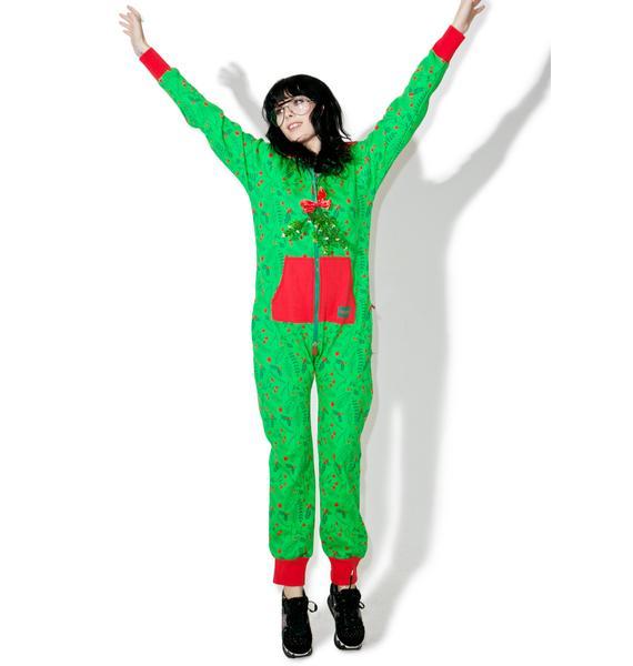Tipsy Elves Mistletoe Jumpsuit