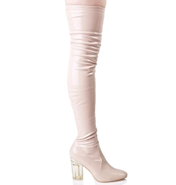 Flushed Neptune Thigh-High Boots