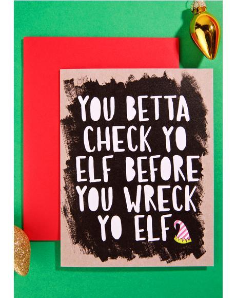 Check Yo Elf Card