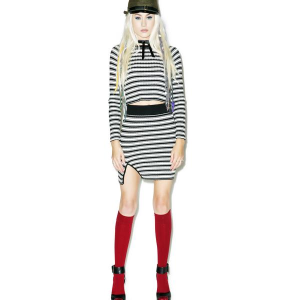 For Love & Lemons Ziggy Mini Skirt