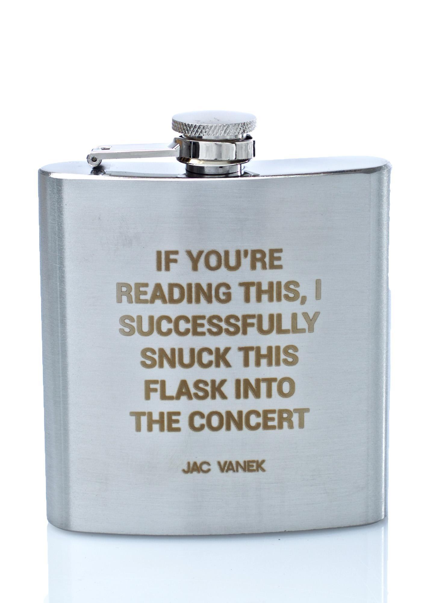 Jac Vanek Concert Flask