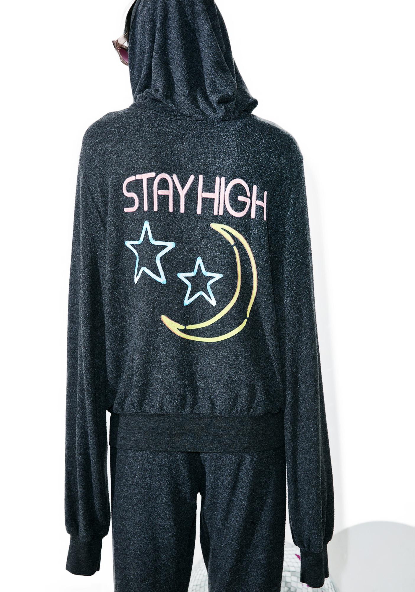 Wildfox Couture Stay High Malibu Zip Up