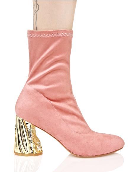 Rose Chiaroscuro Boots