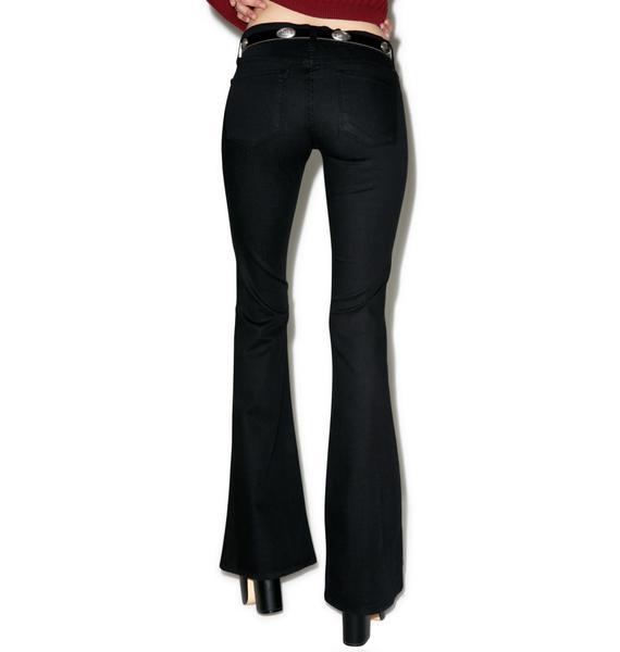 Marie Distressed Flare Jeans