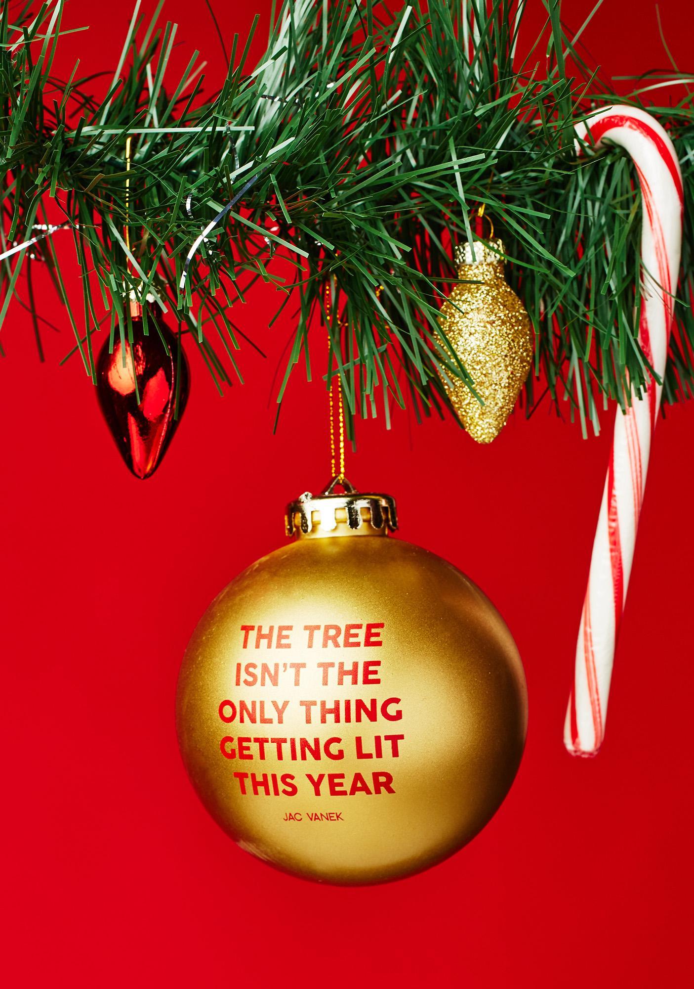 Jac Vanek Lit Tree Ornament