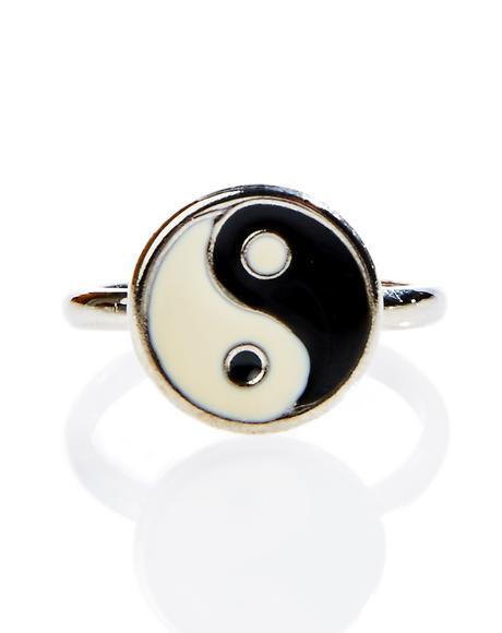 Yin Yang Midi Ring