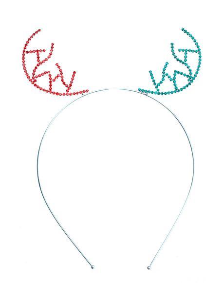 Xmas Antlers Sparkle Headband