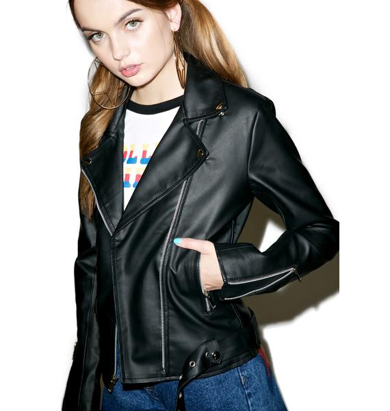 Danielle Guizio Heartbreaker Faux Leather Jacket