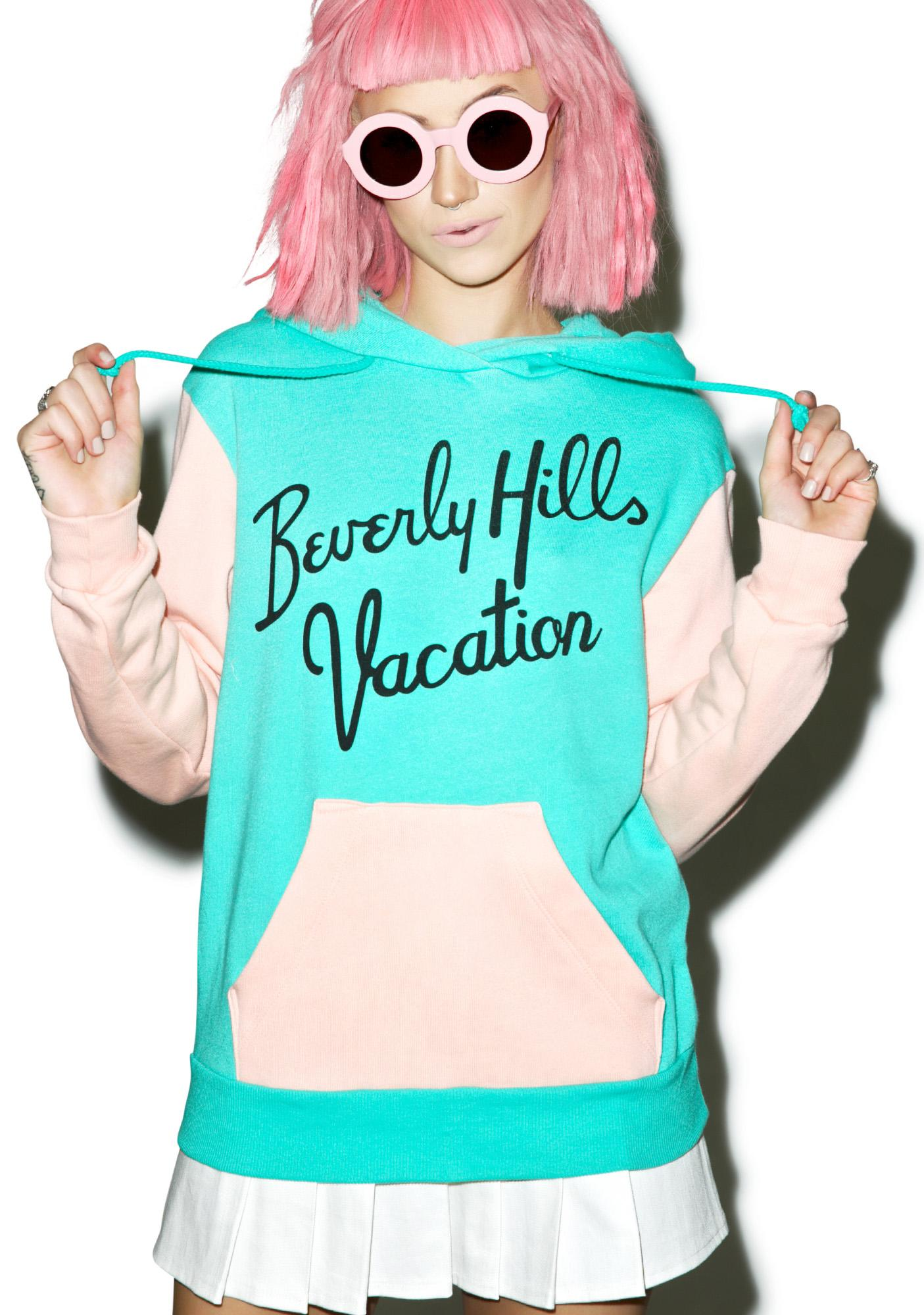 Wildfox Couture Beverly Hills Vacation Cuddles Hoodie