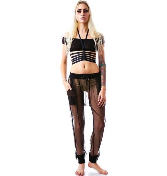 Widow Nocturne Mesh Dropwaist Pants