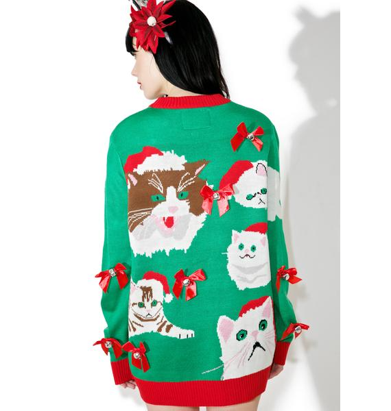 Tipsy Elves Crazy Cat Sweater