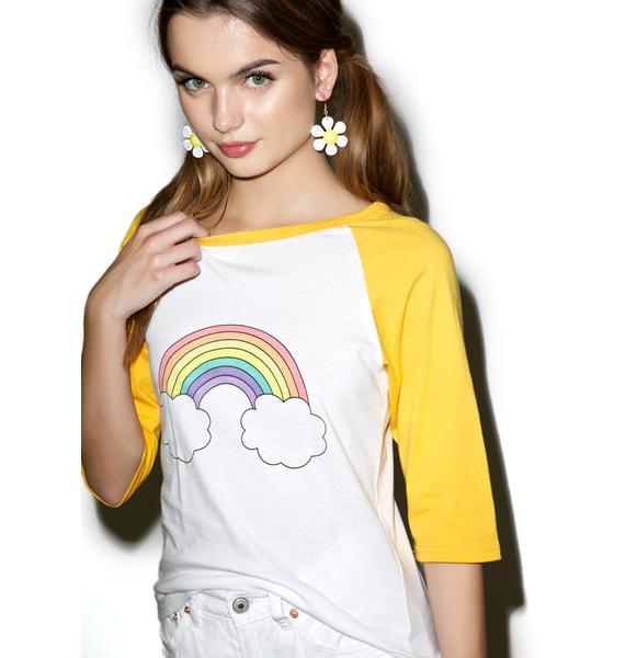 Glamorous Vintage Rainbow Raglan
