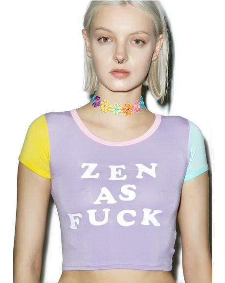 Zen As Fuck Ringer Tee